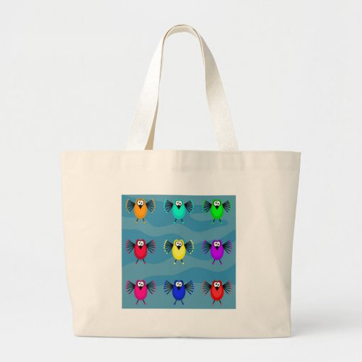 Funky Birds Large Tote Bag