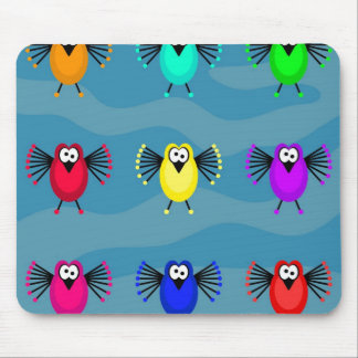 Funky Birds Mouse Pads
