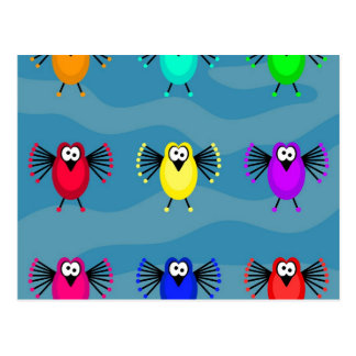 Funky Birds Postcard