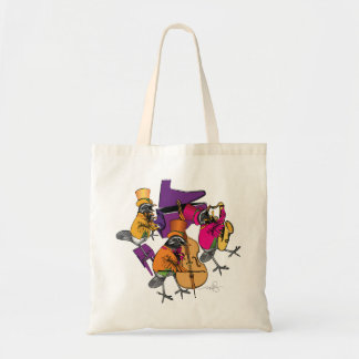 Funky Birds Rocking Canvas Bags