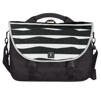 Funky Black and White Laptop Commuter Bag