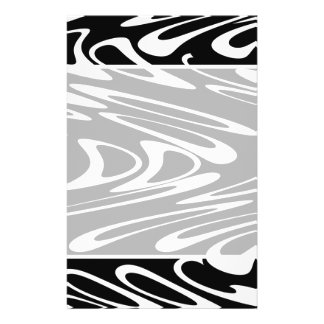 Funky Black and White Pattern. Flyer