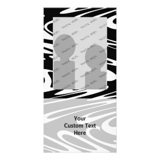 Funky Black and White Pattern. Photo Card