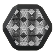 Funky Black and White Retro Abstract Pattern Black Bluetooth Speaker