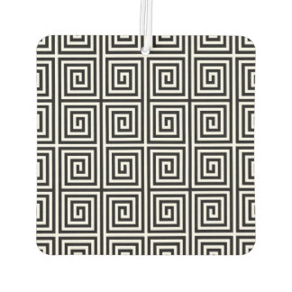 Funky Black and White Retro Abstract Pattern Car Air Freshener