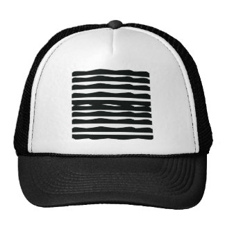 Funky Black and White Trucker Hat