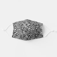 Funky Black And White Zebra Animal Stripes Pattern Cloth Face Mask