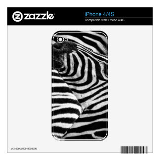 Funky Black and White Zebra Skins For iPhone 4S