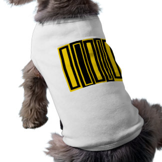 Funky black and yellow rectangles pet shirt