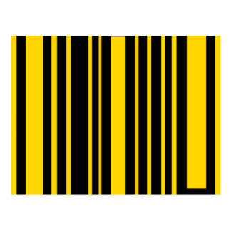 Funky black and yellow rectangles post cards