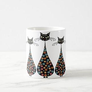 Funky Black Cat Coffee Mug