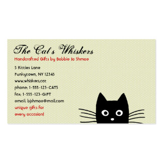 Funky Black Cat Customizable Business Card Templates