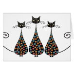 Funky Black Catin Notecards Greeting Card