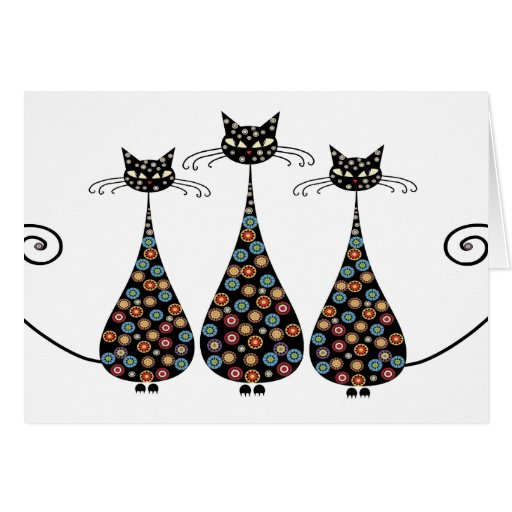 Funky Black Catin Notecards Stationery Note Card