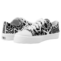 Funky Black & White Yelessi Pattern Low-Top Sneakers