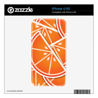 Funky blood orange wedges iPhone 4S decals