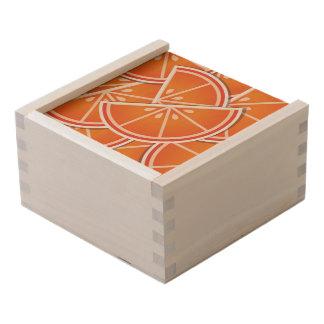 Funky blood orange wedges wooden keepsake box