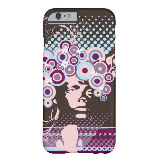 Funky Bloom Hair Floral Mod Circles Retro Abstract Barely There iPhone 6 Case