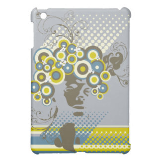 Funky Bloom Hair Floral Mod Circles Retro Abstract Case For The iPad Mini