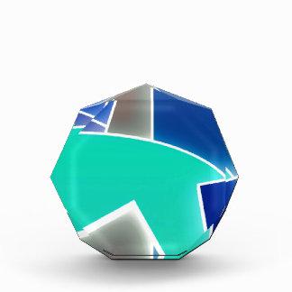 Funky Blue Acrylic Award