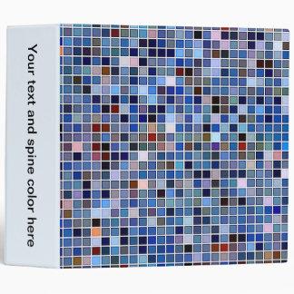 Funky Blue 'Bathroom Tiles' Pattern Vinyl Binder