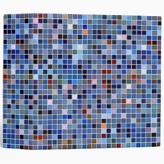 Funky Blue 'Bathroom Tiles' Pattern Binder