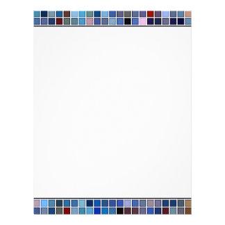 Funky Blue 'Bathroom Tiles' Pattern Letterhead Design