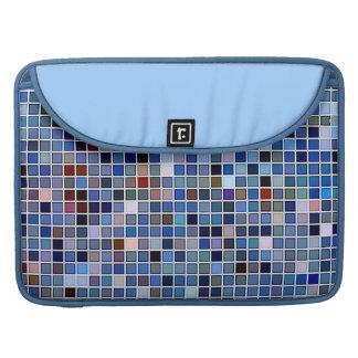 Funky Blue 'Bathroom Tiles' Pattern MacBook Pro Sleeves