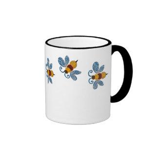 Funky Blue Bees Coffee Mug