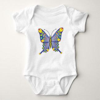 funky blue butterfly baby bodysuit