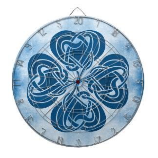 Funky Blue Celtic Knot Dartboard