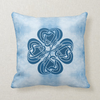 Funky Blue Celtic Knot Pillow