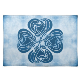 Funky Blue Celtic Knot Placemat
