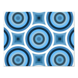 Funky Blue Circles Pattern Card