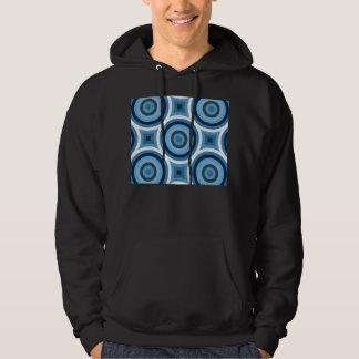 Funky Blue Circles Pattern Hoodie
