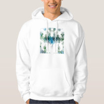 Funky Blue Cube Graphic Design Hoodie