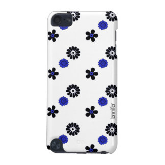 Funky Blue Flowers iPod Case