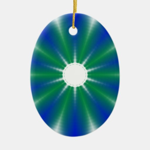 Funky Blue Green Spiral Ornaments