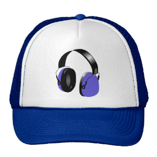FUNKY BLUE HEADPHONES Trucker Hat
