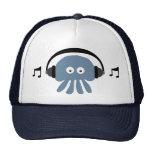Funky Blue Jellyfish With Headphones DJ Cap Trucker Hat