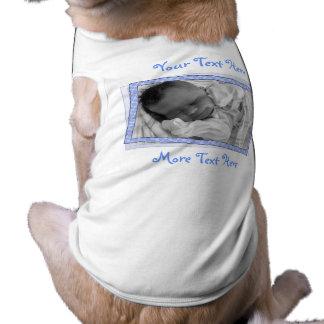 Funky Blue Polkadot Frame Pet Clothing
