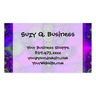 Funky Blue Purple Saguaro Cactus Mosaic Double-Sided Standard Business Cards (Pack Of 100)