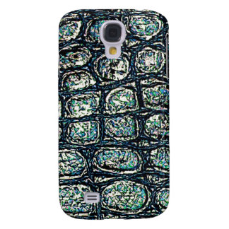 Funky Blue Scale Texture Pern Samsung Galaxy S4 Cases