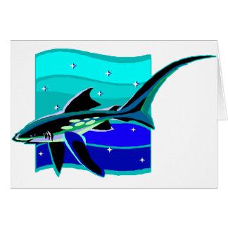 Funky Blue Shark Card