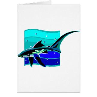Funky Blue Shark Cards