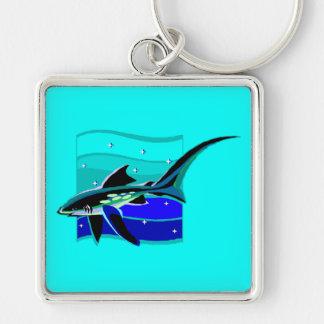Funky Blue Shark Keychain