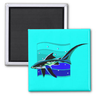 Funky Blue Shark Magnets