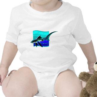 Funky Blue Shark Shirt