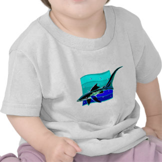 Funky Blue Shark Shirts