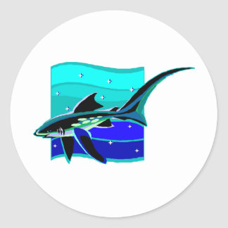 Funky Blue Shark Sticker